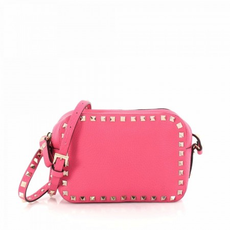 Valentino Rockstud Camera Crossbody Bag Leather