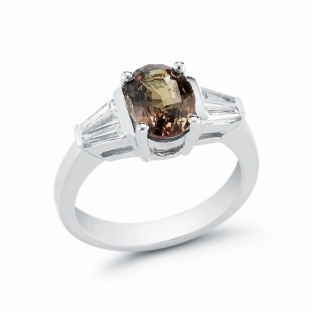 Oval Alexandrite and Diamond Ring R100362-4W