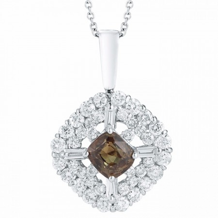Cushion Cut Alexandrite and Diamond Pendant P104411-2W