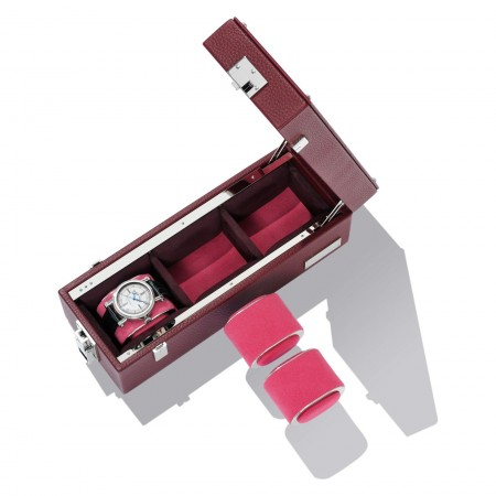 Watch T3 Leather Box - Burgundy