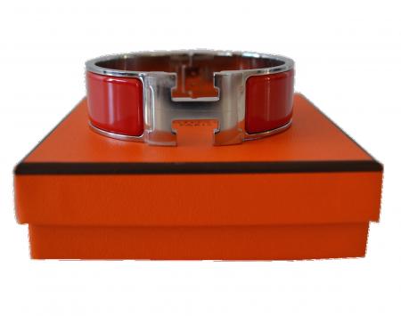 Hermes Hermès bracelet model Clic H Red casaque