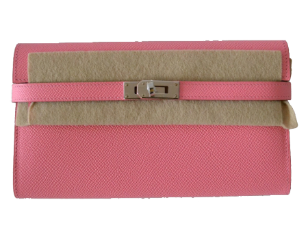 Hermes Hermès Kelly Epsom Pink Confetti Wallet