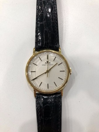 JAEGER LE COULTRE 18K GOLD WATCH