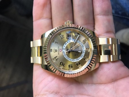 Rolex Yellow Gold Skydweller Bracelet Ref.326938