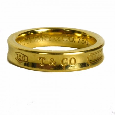 Tiffany & Co. 18K Gold Engraved Ring