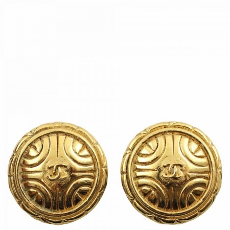CHANEL VINTAGE CLIP ON CC EARRINGS