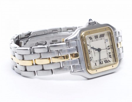 Cartier Panthere Stainless Steel and 18k Gold Watch