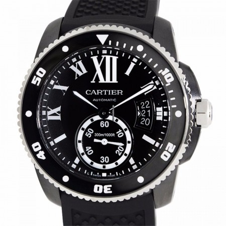 Cartier Stainless Steel Black Automati