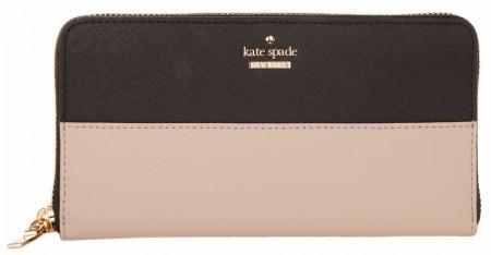 KATE SPADE WOMEN WALLET CAMERON STREET LACEY TUSK/BLACK PWRU5073B-913
