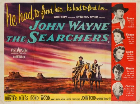 Original The Searchers British Quad Film Movie Poster
