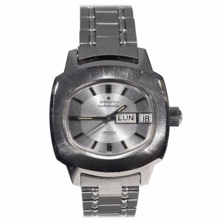 Zenith Stainless Steel AF/P Automatic Bracelet Wristwatch