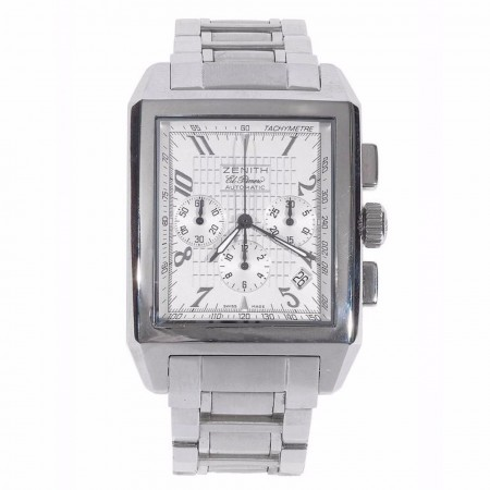 Zenith Stainless Steel Port Royal V El Primero Chronograph Automatic Wristwatch