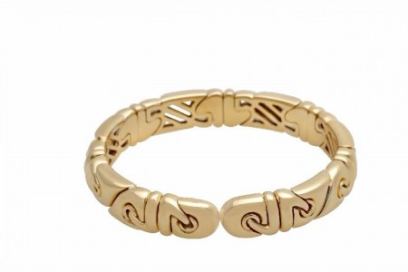 BVLGARI Saetta Gold Cuff Bracelet 18K Yellow Gold