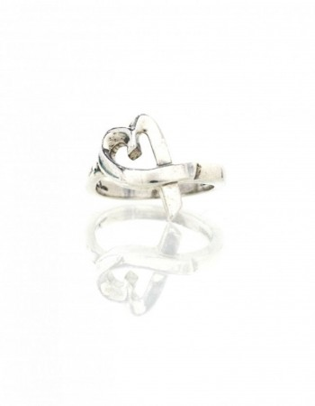 Tiffany & Co. Paloma Picasso Sterling Loving Heart Ring Sz 5.5