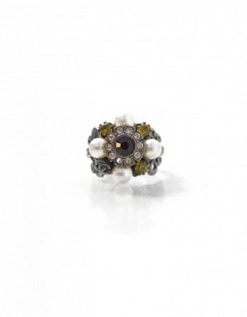 Chanel Multi Stone Ring Sz 6.5