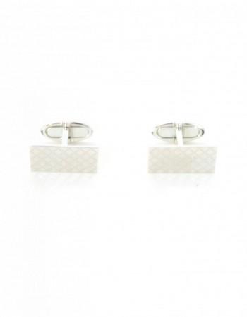 Gucci Men's 18K White Gold Diamantissima Cufflinks