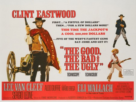 Original The Good, The Bad and the Ugly 1966 British Film Movie Poster, Eastwood