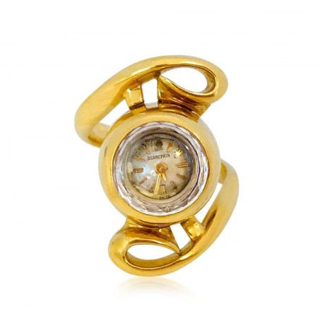 A GOLD RING WATCH, BY BLANCPAIN