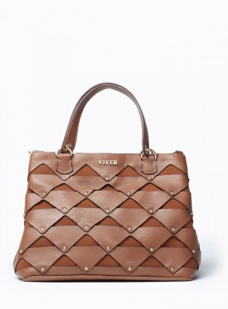 VIVER FEMME BROWN LEATHER HANDBAG