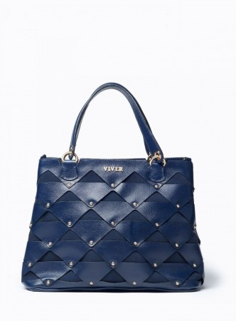 VIVER FEMME NAVY LEATHER HANDBAG