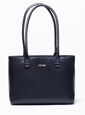 VIVER CONCORD BLACK LEATHER SHOULDER BAG