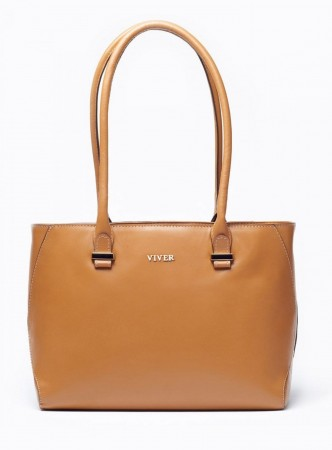 VIVER CONCORD TAN LEATHER SHOULDER BAG