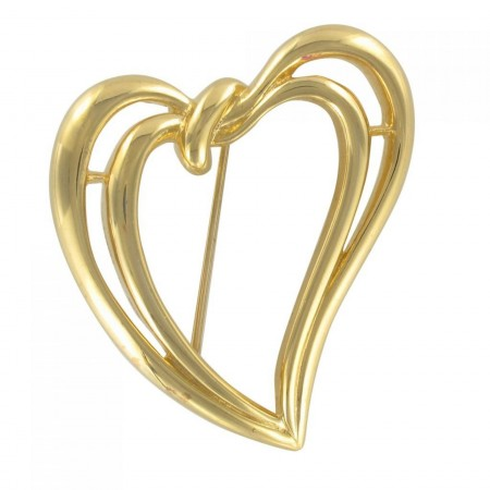 Double Heart Trifari Brooch
