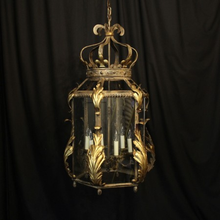 Italian Large Florentine Six Light Hall Lantern