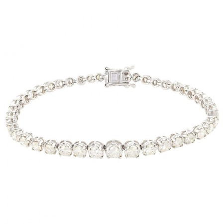 8.00ctw Diamond 14KT White Gold Tennis Bracelet