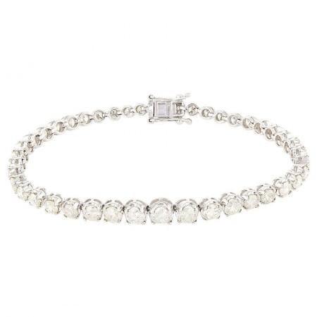 8.00ctw Diamond 14KT White Gold Tennis Bracelet