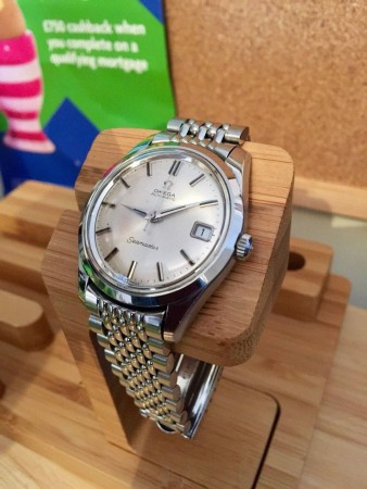 OMEGA MENS SEAMASTER SPECIAL EDITION CAL 565 RICE OMEGA BRACELET SUPER CONDITION