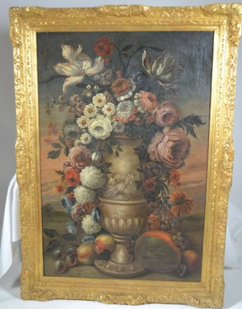 18th Century Framed Flower Painting