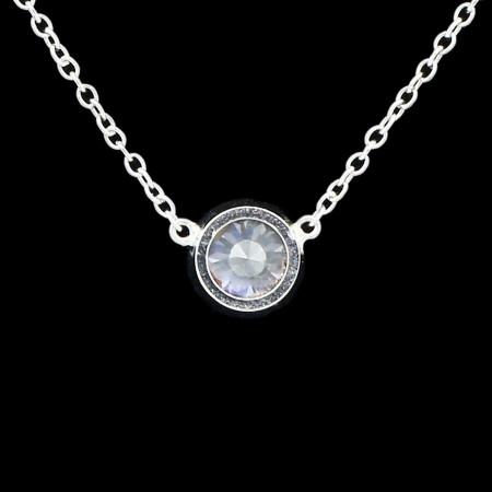0.60ct Diamond 14KT White Gold Pendant