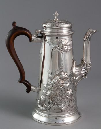 An Early George II Silver Coffee Pot London 1731