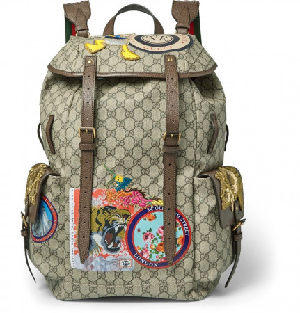 Gucci x Disney Donald Duck Beige GG Supreme Backpack 460029-K5I7T-8854 NEO