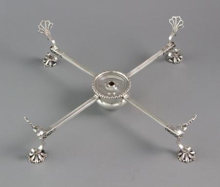 An Early George III Silver Dish Cross, London 1766 by Samuel Herbert