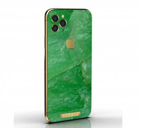 """Jadeite iPhone 11 Pro """"EMPEROR"""" by Legend - Limited edition of 8 with 24k gold"""