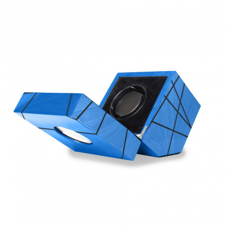 Time Lines Watch winder Blue