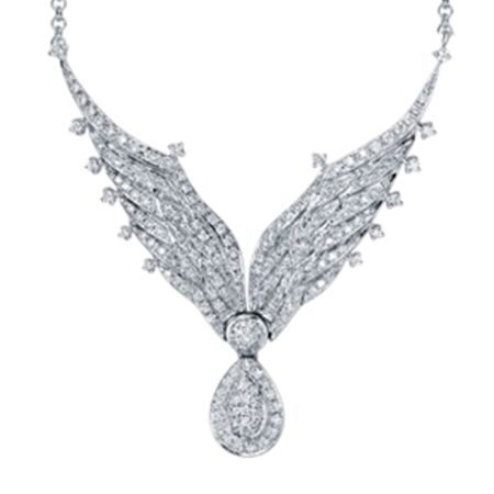 TAK FOOK - 18K DIAMOND NECKLACE