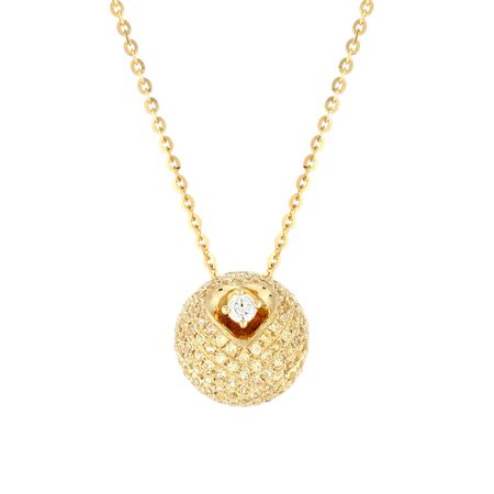 Disco Ball Diamond Pendant