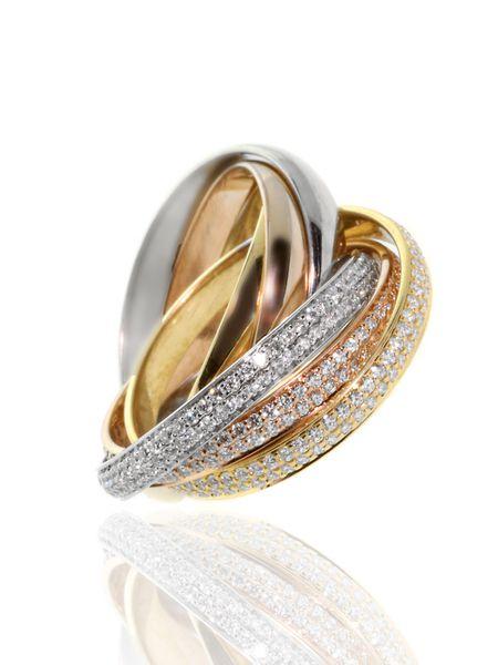 Cartier Diamond Tricolor Ring