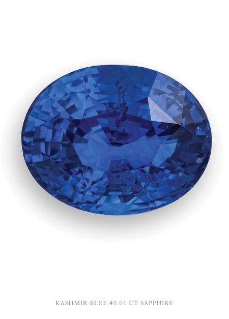 Kashmir Blue Sapphire 40.01 Carats