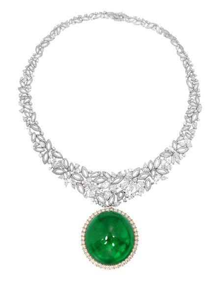 A Stunning Emerald and Diamond Set