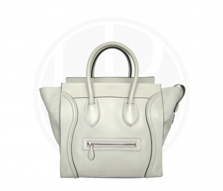 CÉLINE WHITE MEDIUM LUGGAGE