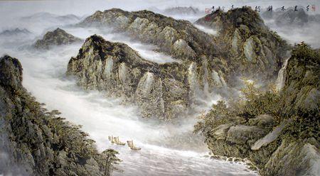 千里 鄭希林 Landscape by Xi-Lin Zheng
