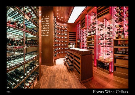 Wine Cellar of 8 ½ Otto e Mezzo Restaurant in Galaxy Macau Ritz Carlton Hotel