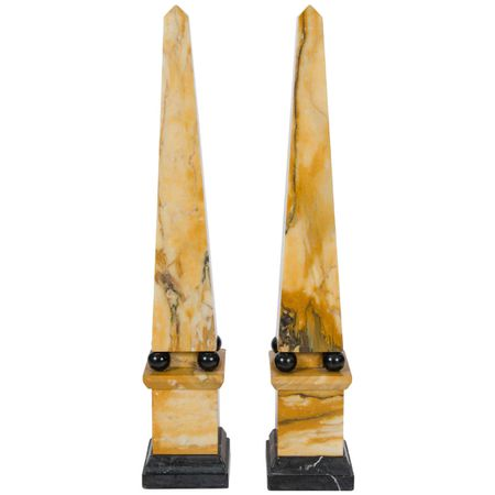 19th Century Marble Obelisks
