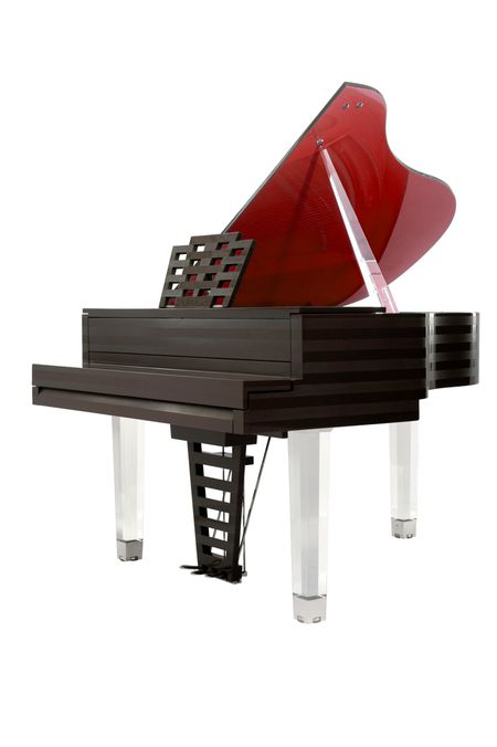The piano « Parallele »‐ Cocoa and Red vermilion