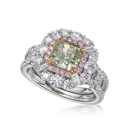 2.01ct Fancy Yellowish Green DiamondRing