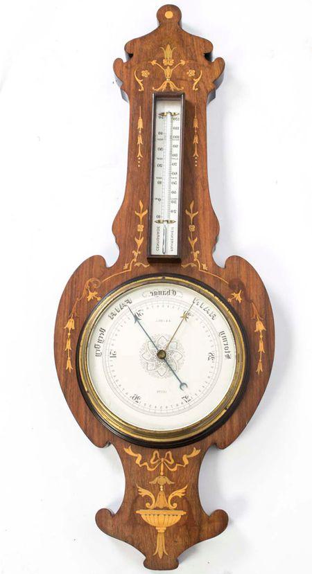 Antique Edwardian Inlaid Rosewood Barometer c.1900